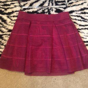 Burgundy High Waist Skirt